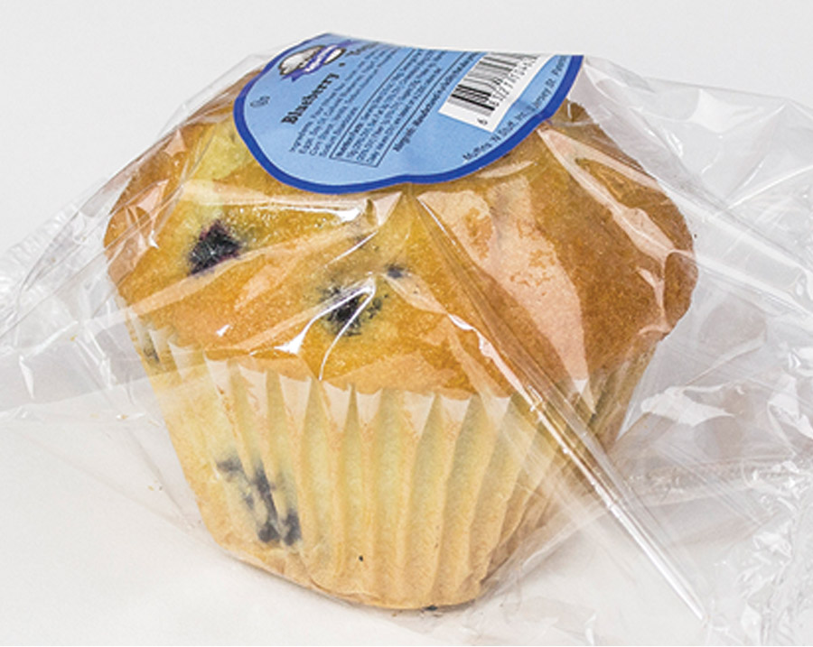 Pre-Wrapped Blueberry Muffin