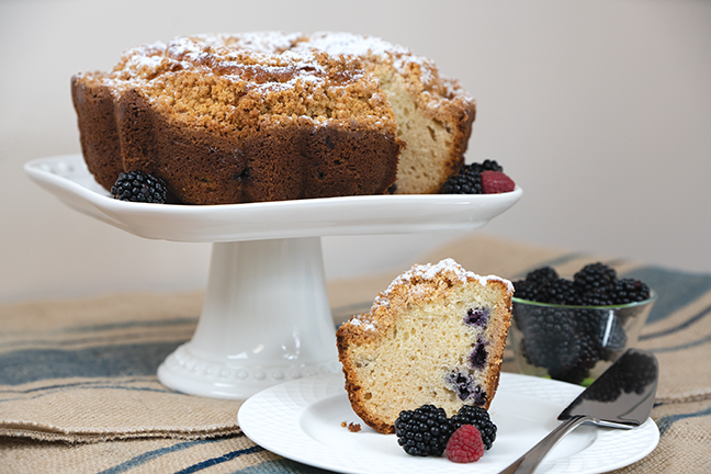 "10"" Blueberry Crumb Bundt Cake"